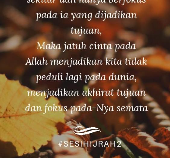 Sesi Hijrah 2. CInta Allah